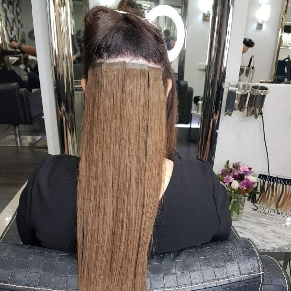 hair extensions install