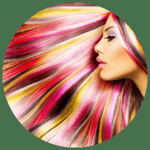 rainbow hair colour